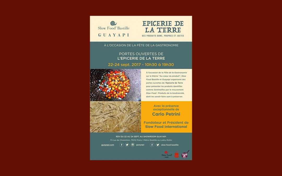 Slow Food Paris célèbre la Fête de la Gastronomie avec les Portes Ouvertes de l'Epicerie de la Terre !