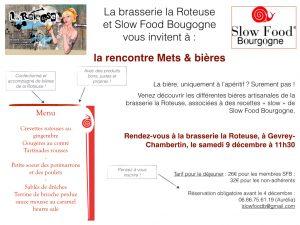 Rencontre mets & bières @ Brasserie la roteuse |  |  |