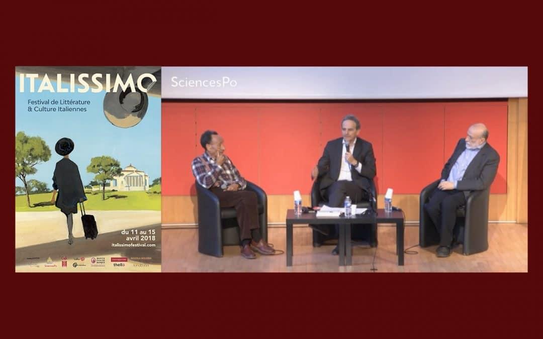 Le dialogue de Carlo Petrini et Pierre Rabhi à Sciences Po pour l'ouverture du Festival Italissimo