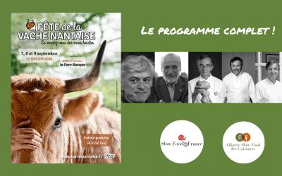 La Fête de la Vache Nantaise | Le programme complet avec Carlo Petrini, l'Alliance des Cuisiniers et Slow Food en France
