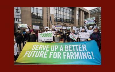 Slow Food Europe se fait l'écho de 100 000 citoyens européens, exhortant les ministres de l'UE à élaborer un avenir meilleur pour l'agriculture